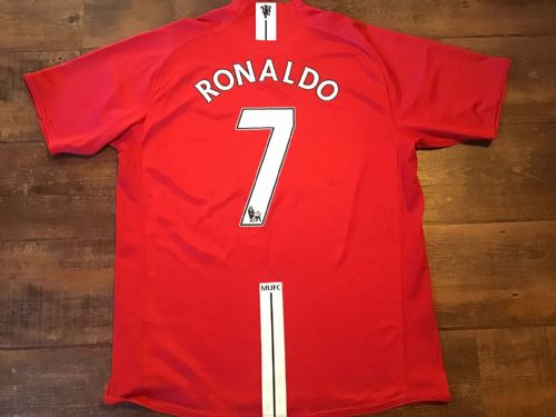 2007 2008 Manchester United Ronaldo Home Football Shirt Large